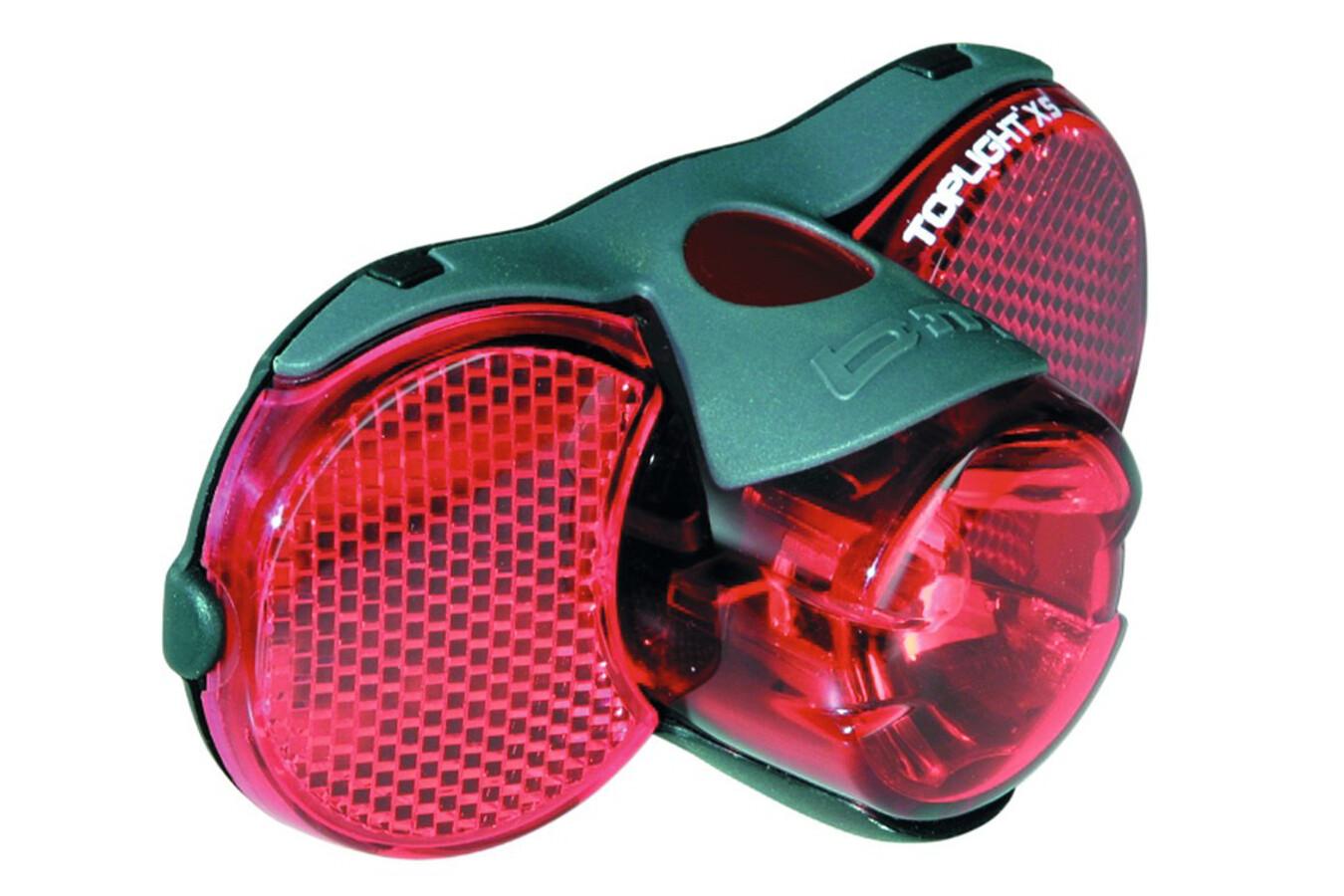 Busch + Müller B&M D-Toplight XS Dynamo-Rücklicht schwarz/rot Fahrraddynamo~Dynamo~Fahrradbeleuchtung~Fahrradlicht~Fahrrad Beleuchtung~Dynamo Beleuchtung