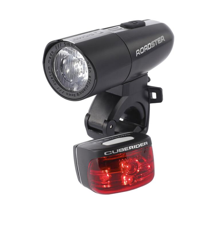 Roadster/Cuberider Beleuchtungsset schwarz Batteriebeleuchtung Sets mit STVZO