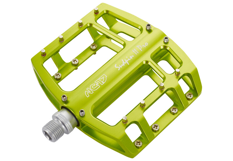 Sudpin II Pro Pedal CNC-Plattform grün Plattformpedale