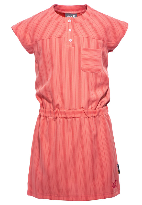 Jack Wolfskin Airy Summer Dress Girls grapefruit stripes 1603871-7593104