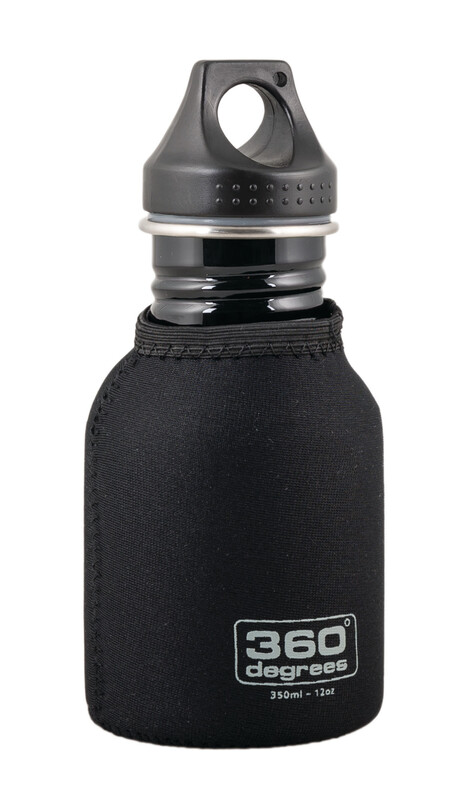Stainless Drink Bottle Neoprene Pouch 350ml black Zubehör Campingküche
