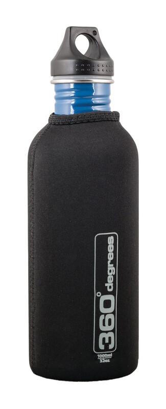 Stainless Drink Bottle Neoprene Pouch 1000ml black Zubehör Campingküche