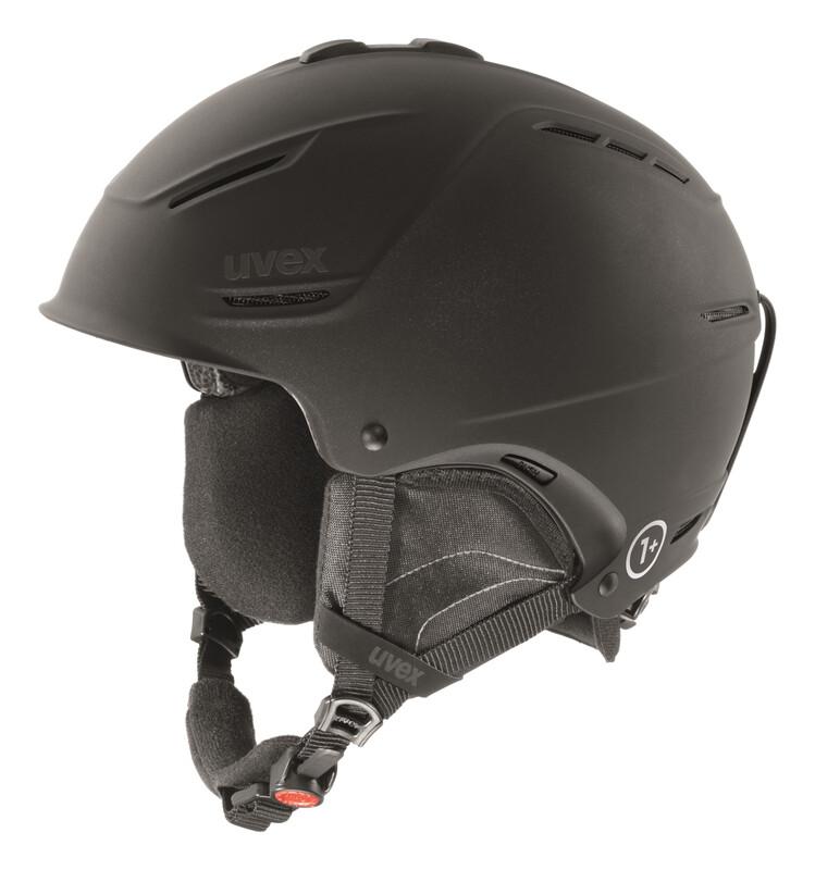p1us Helmet black met mat Ski- & Snowboardhelme