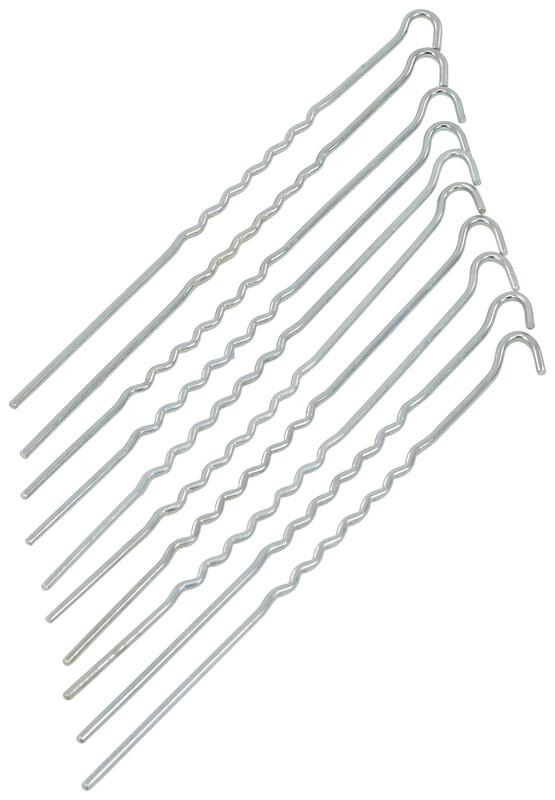 Gewellt Stahl Erdnagel 30cm Zeltbefestigung