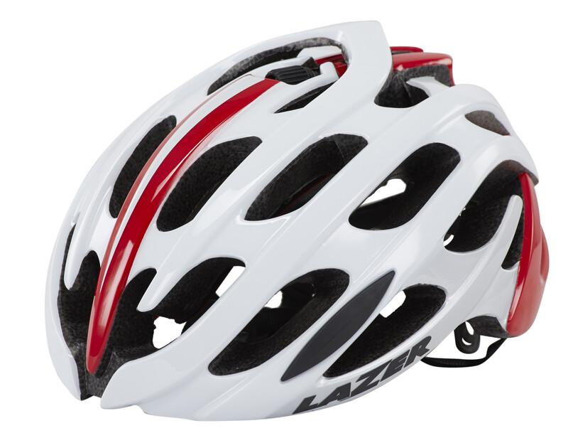 Blade Helm weiß/rot 52-56 cm Fahrradhelme