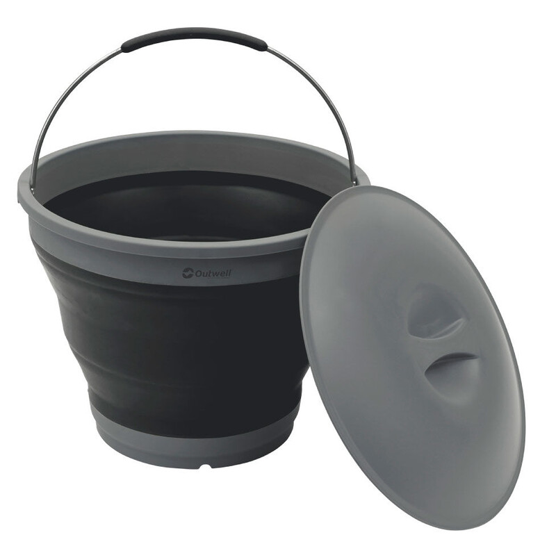 Collaps Bucket with Lid black Wasserbehälter & -kanister