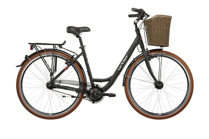Monet Damen schwarz matt Citybikes