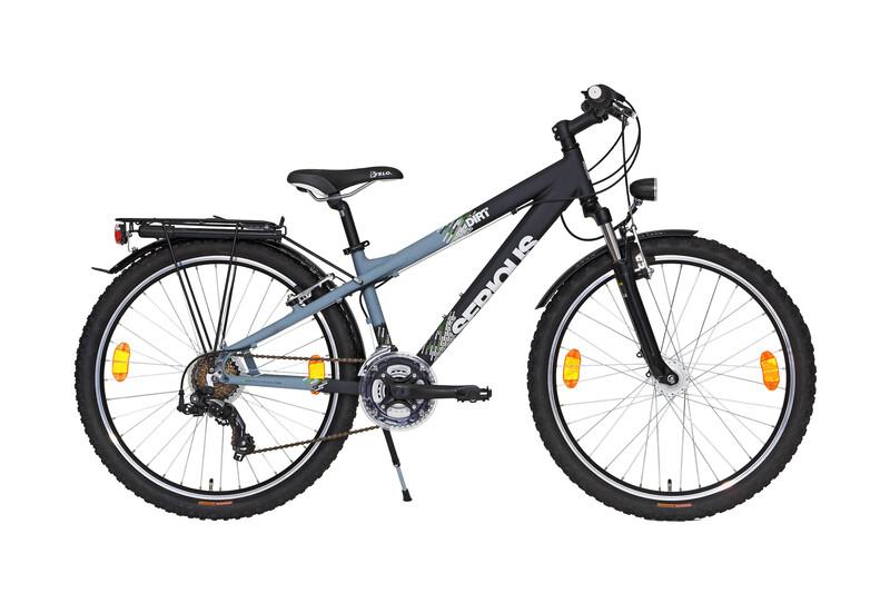 Dirt 260 schwarz matt/grau Jugendfahrräder