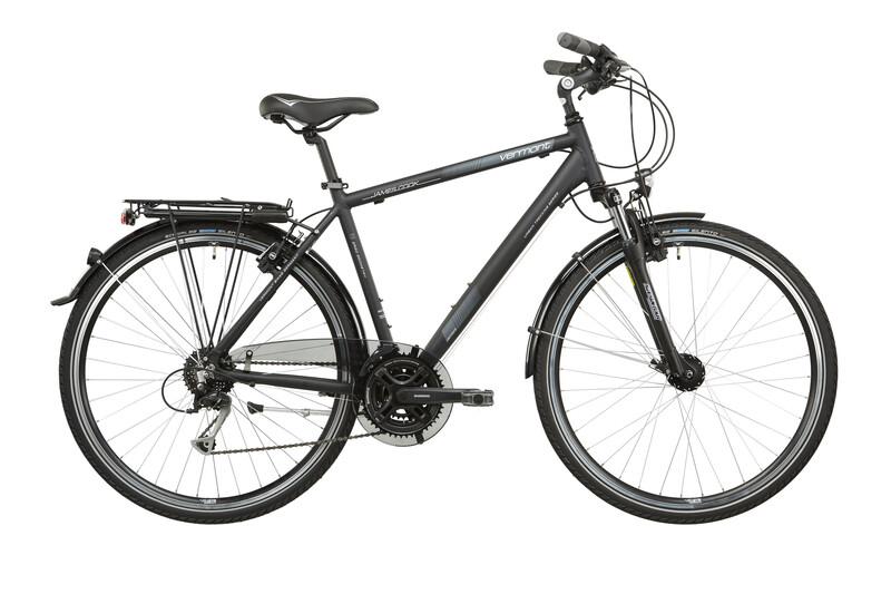 James Cook Herren schwarz matt Trekkingräder