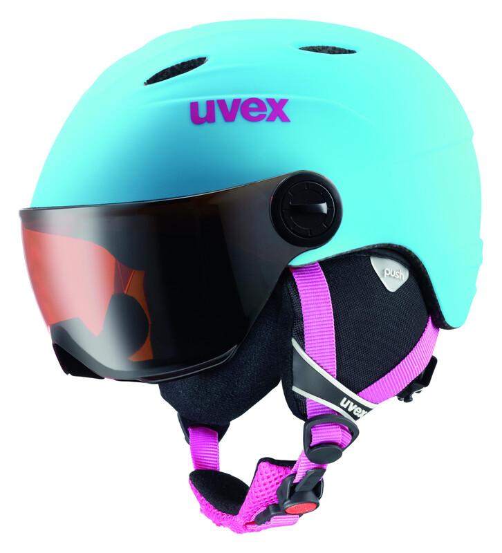 Junior visor pro Helmet liteblue mat Ski- & Snowboardhelme