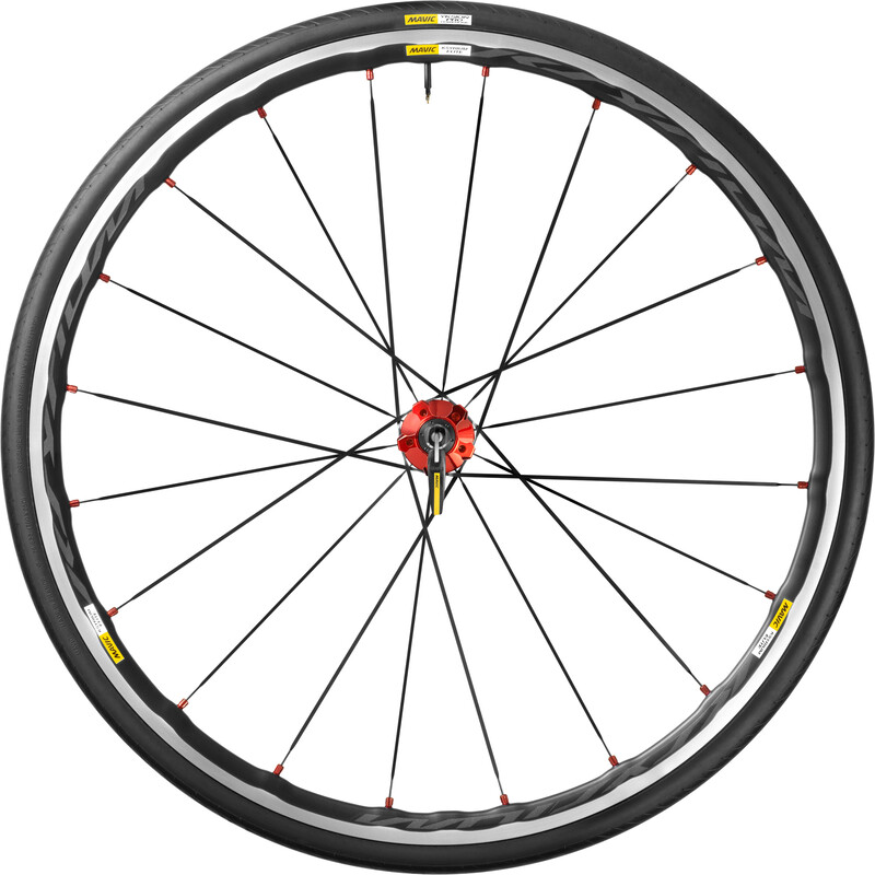 Ksyrium Elite HR 25 Shimano M10 red Rennrad Hinterräder