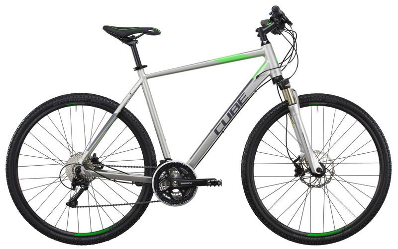 Cross Pro silver grey green Crossräder