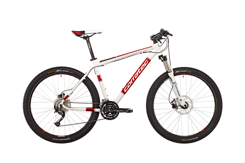 """X-Vert Motion 650B 9 Speed 27,5"""" white glossy/red/black Mountainbikes"""