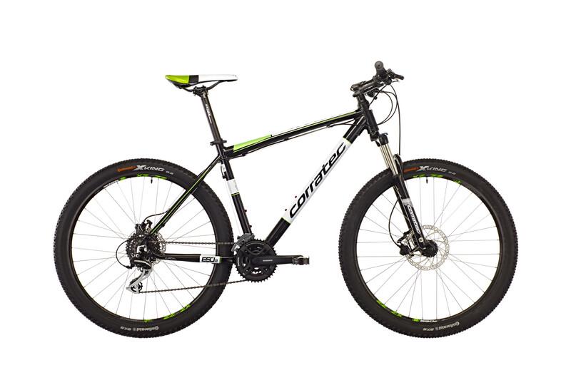 "X-Vert Halcon 650B 27,5"" black glossy/viper green/white Mountainbikes"