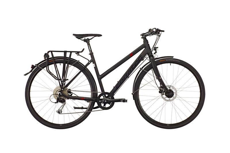 Shape Urban Lady soft black matt/red/black Trekkingräder