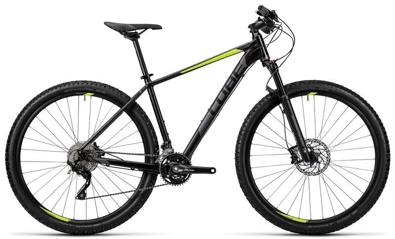 Acid black'n'flashyellow Mountainbikes