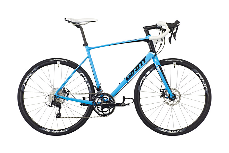 Giant Defy Disc LTD Landeveissykkel Blå 50cm Racersykler Dame