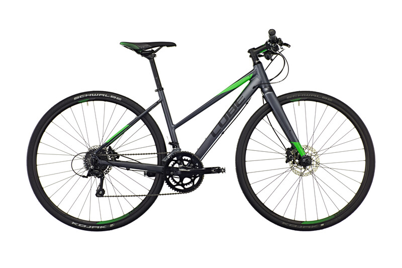 SL Road Pro Trapez grey black flashgreen Crossräder