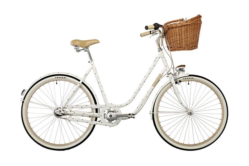 "Molly Chic 26"" 3-speed white w/ dots Urban Bikes"