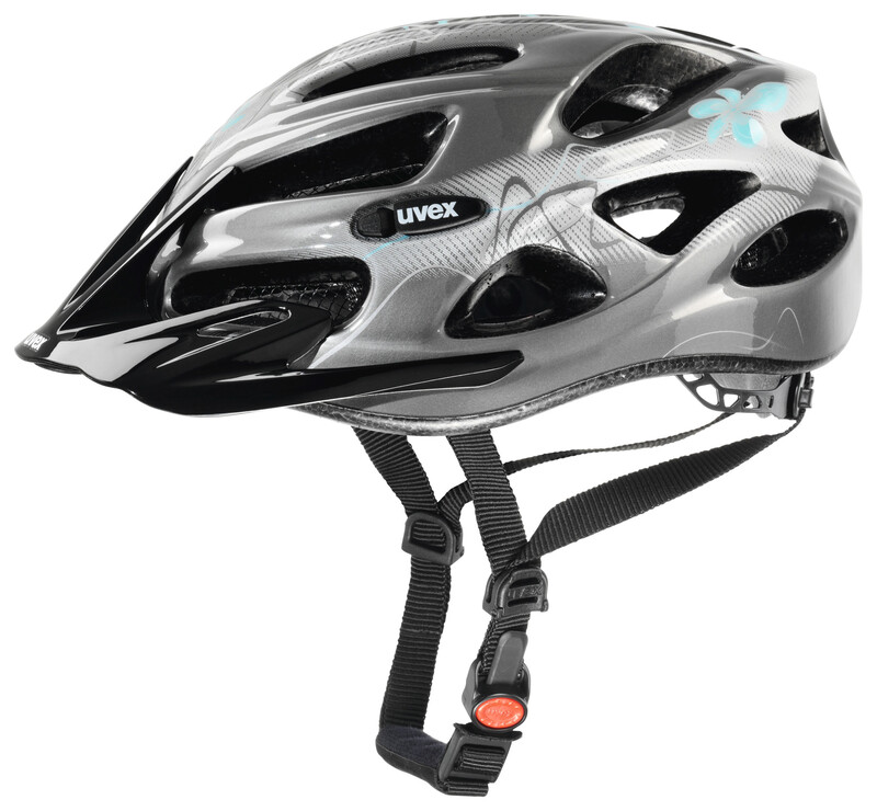 onyx Helm Damen dark silver-light blue 52-57 cm Mountainbike Helme