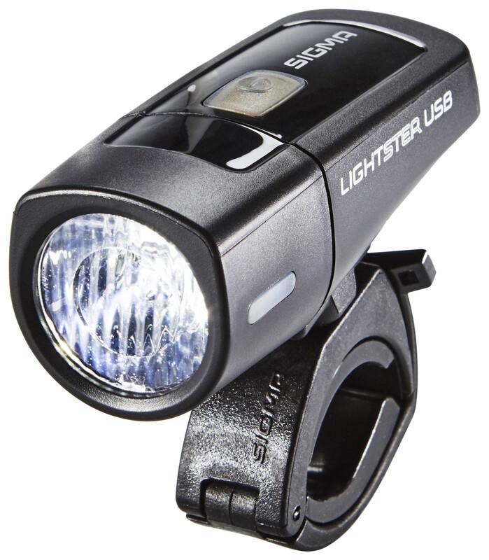 Lightster USB LED-Frontleuchte schwarz Batteriebeleuchtung vorne mit STVZO