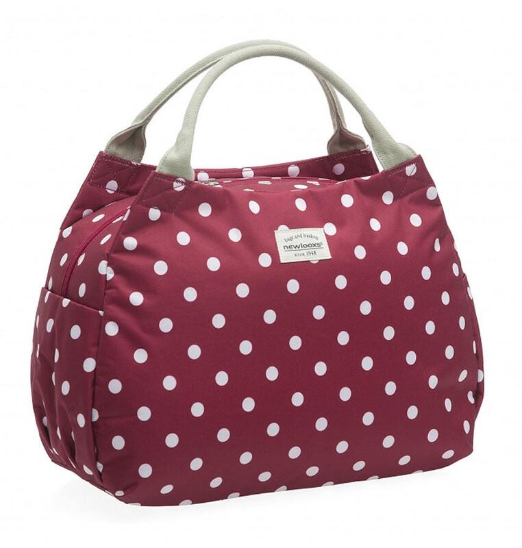 Tosca Handtasche Polka rot Shopping Taschen