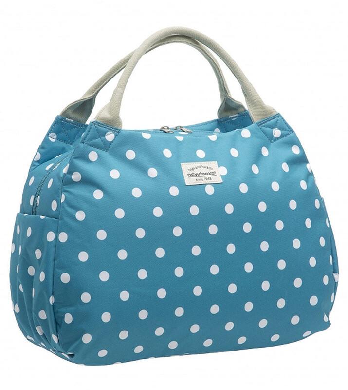 Tosca Handtasche Polka blau Shopping Taschen