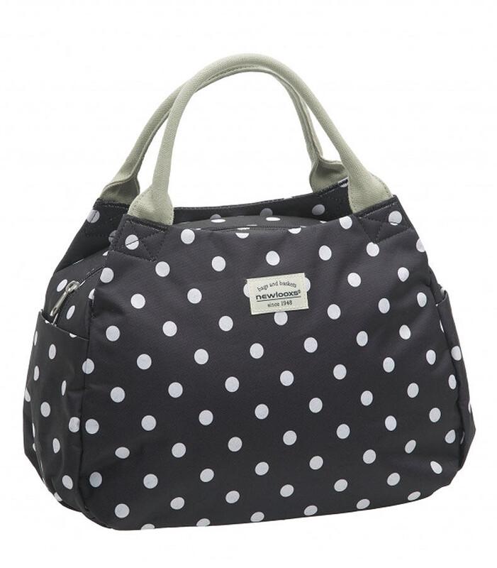 Tosca Midi Handtasche Polka schwarz Shopping Taschen