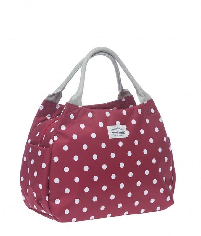 Tosca Midi Handtasche Polka rot Shopping Taschen