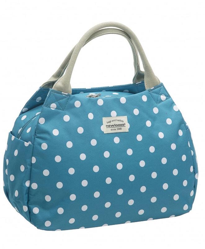 Tosca Midi Handtasche Polka blau Shopping Taschen