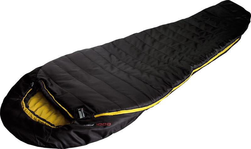 Pak 1000 Sleeping Bag schwarz/curry Mumienschlafsäcke