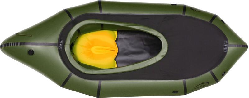 TrekRaft Schlauchboot mit Verdeck dunkelgrün/schwarz Schlauchboote