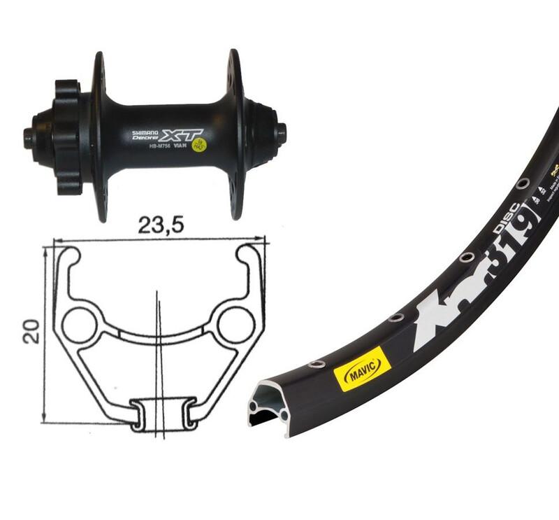"XM 319 VR 26"" Shimano Deore XT Disc QR schwarz MTB Vorderräder"