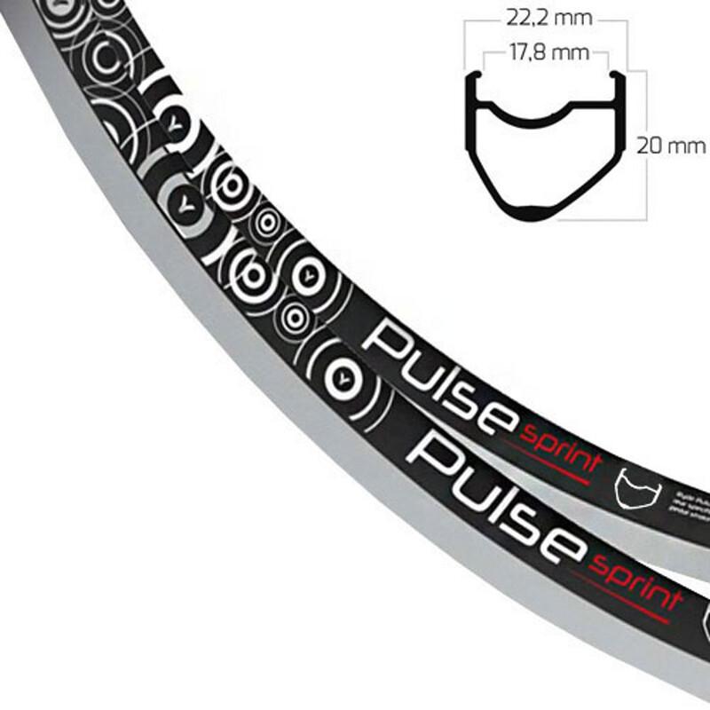 Pulse Sprint OS Felge schwarz Felgen Rennrad