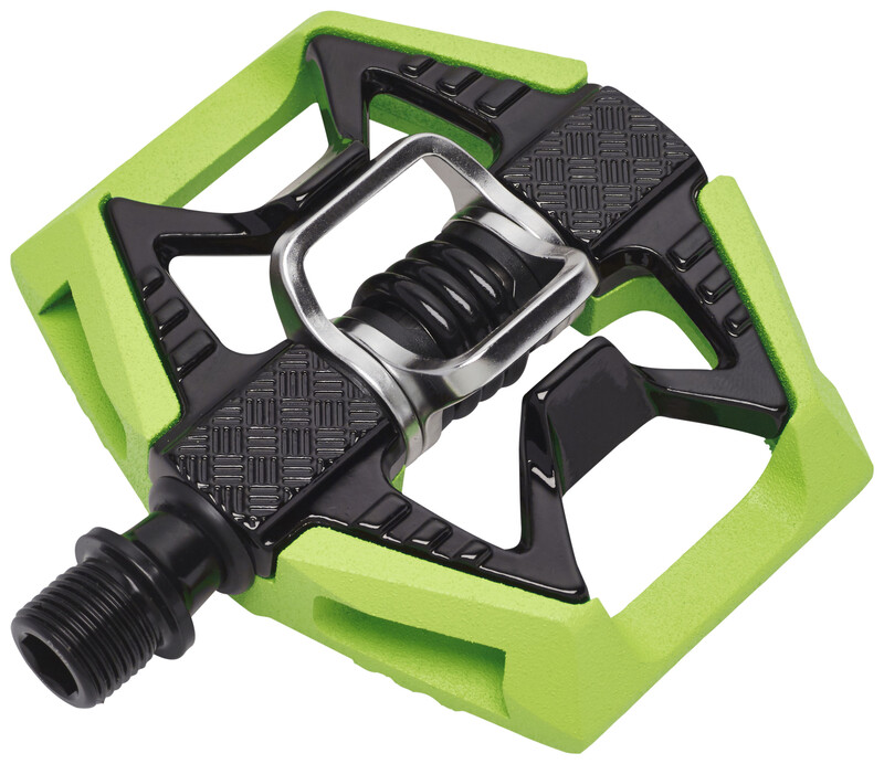 Double Shot Pedal black/green MTB Klickpedale