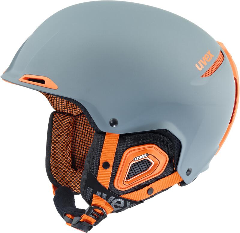 JAKK+ Helmet grey-orange mat Ski- & Snowboardhelme