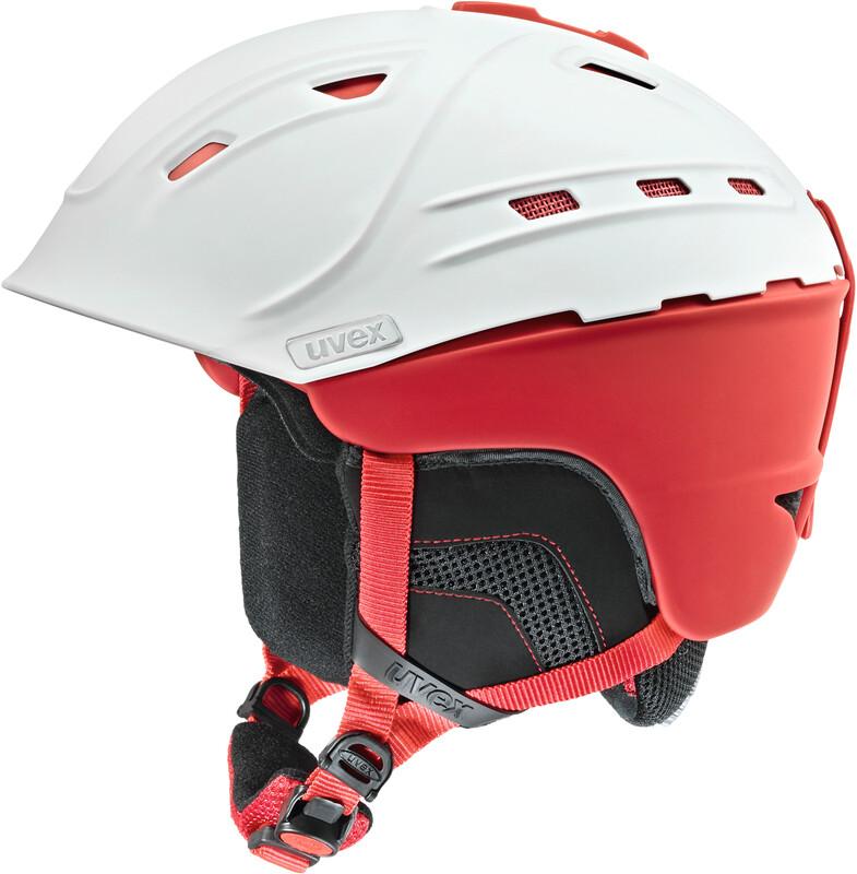 p2us Helmet white-red mat Ski- & Snowboardhelme