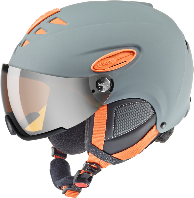 hlmt 300 Helmet grey-orange mat Ski- & Snowboardhelme