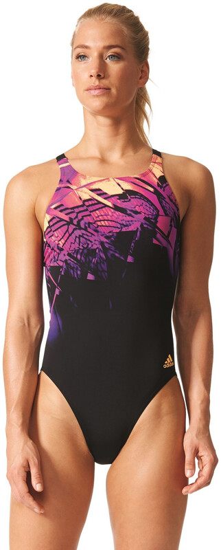 Infinitex + Xtr Swimsuit Women black/solar gold/shock purple f16 Badeanzüge