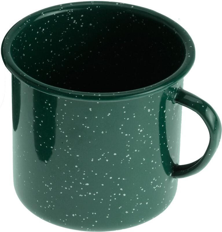 Emaille Tasse 350ml grün Becher, Tassen & Gläser