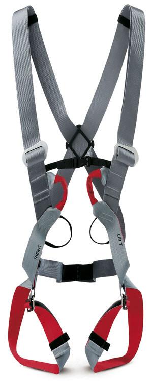 Civetta II Complete Harness light grey/dark red Klettergurte