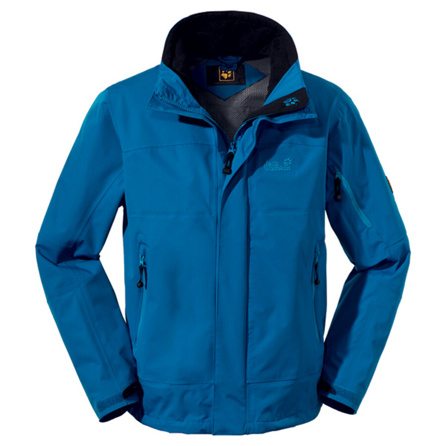 Jack Wolfskin Resolution Jacket Men electric blue 2012 XL blau Fahrradbekleidung Outdoor Jacken Herren Regenjacken XL