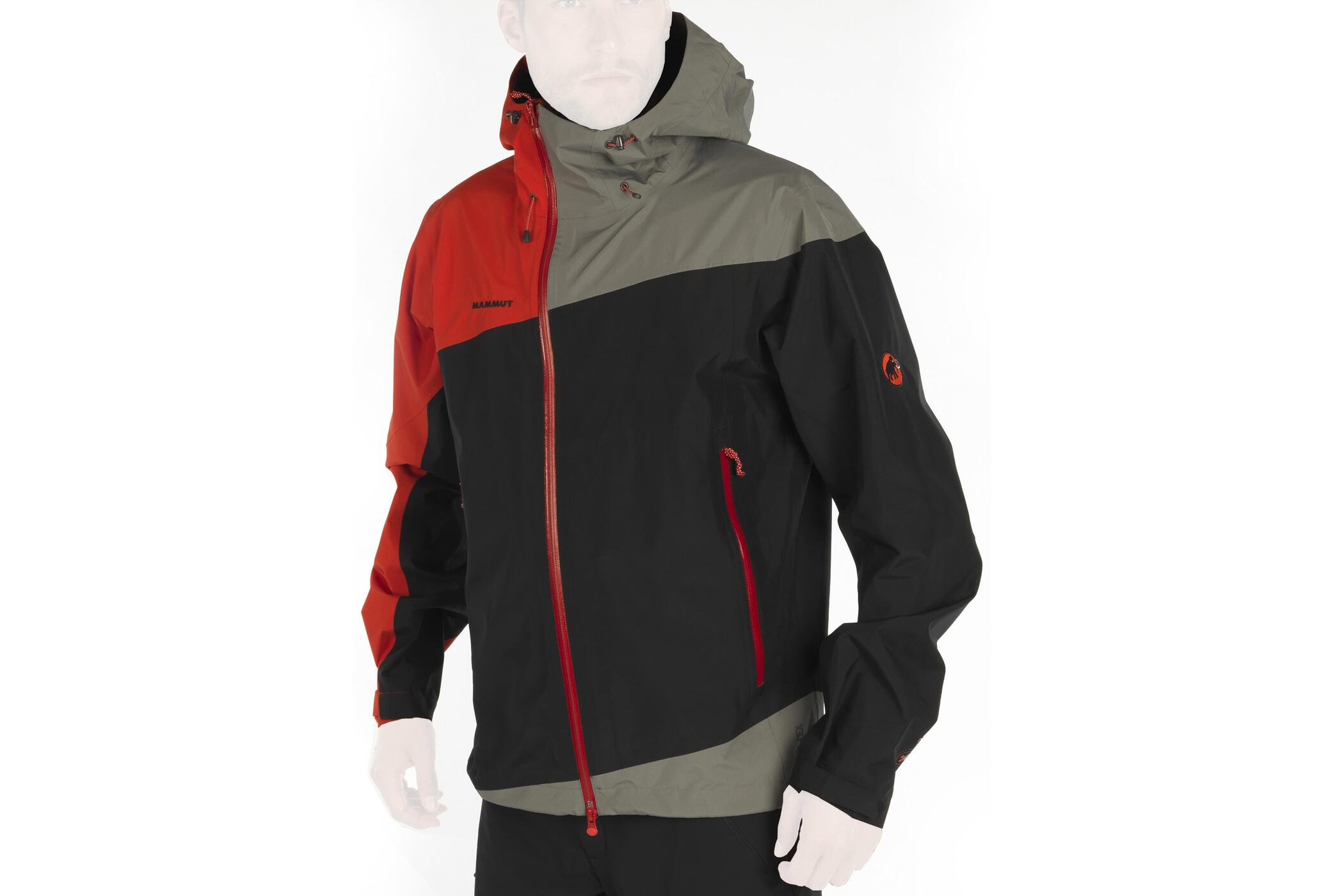 Mammut Rainier Jacket Men black-inferno - Auslaufware XXL jacke~oberteil~Bekleidung~Outdoor~outdoorjacke~outdoorbekleidung~hardshelljacke~hardshell jacke