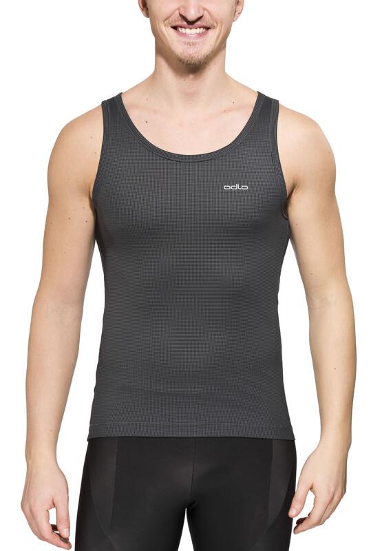 Odlo Cubic Singlet Crew Neck Men ebony grey/black Ärmellose Shirts XL 140292-93090-XL