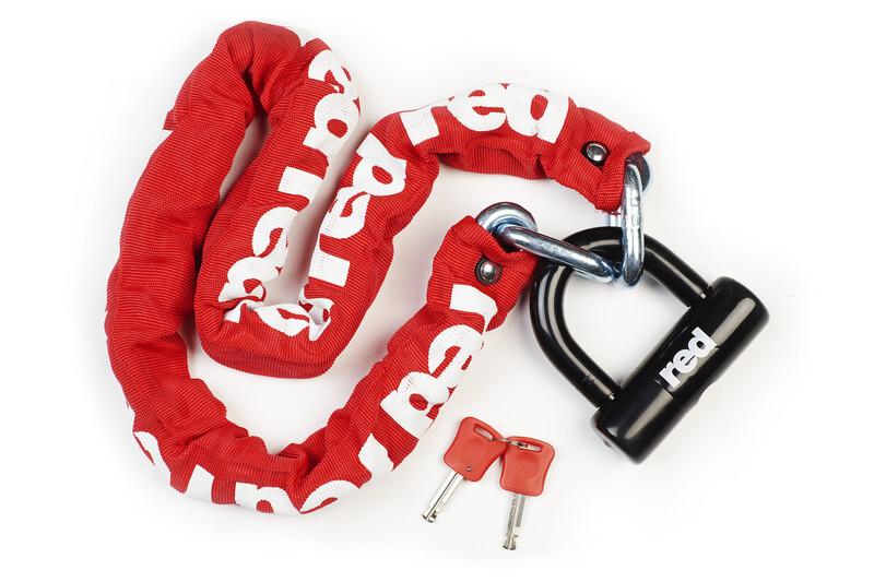 Red Cycling Products RCP High Secure Chain Plus Antivol chaîne rougeblanc Chaînes antivol 2016