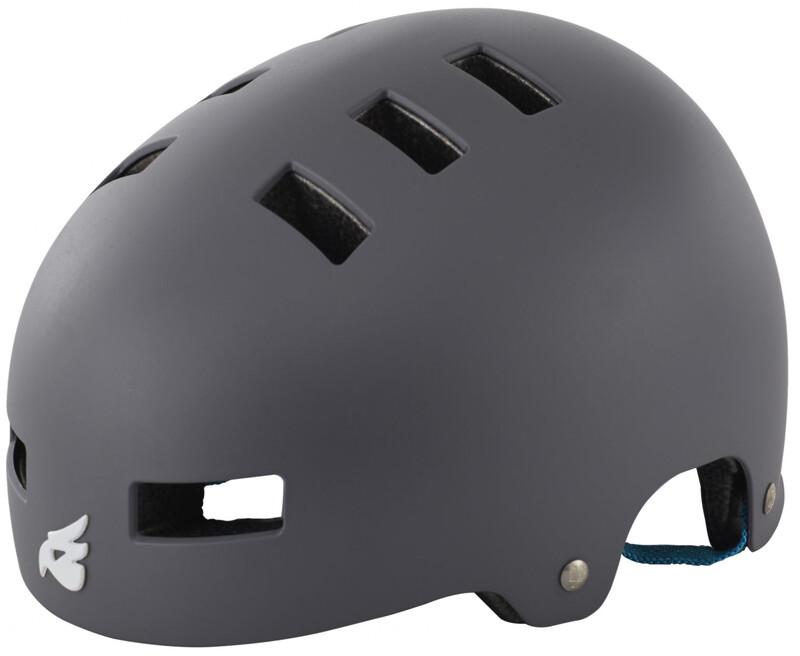 bluegrass Super Bold Dirt-Helmet matt gray/cyan 51-55 cm 2017 Fahrradhelme, Gr.