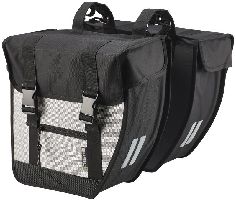 Tour Doppeltasche XL schwarz/silber 2017 Gepäckträgertaschen