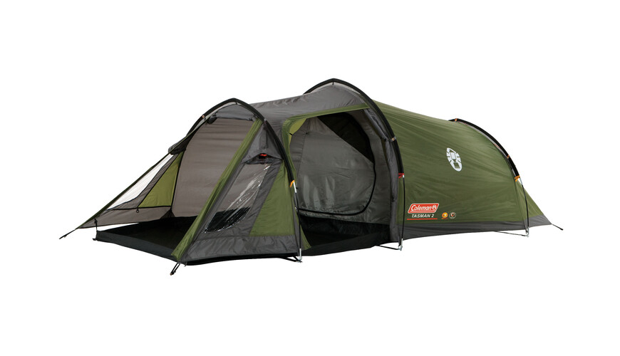 coleman tasman 2 tente tunnel 3 personnes vert sur. Black Bedroom Furniture Sets. Home Design Ideas