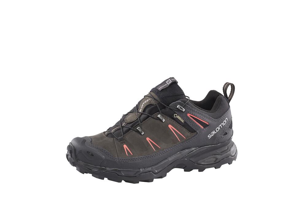 salomon x ultra ltr gtx chaussures de randonn e femme gris sur. Black Bedroom Furniture Sets. Home Design Ideas