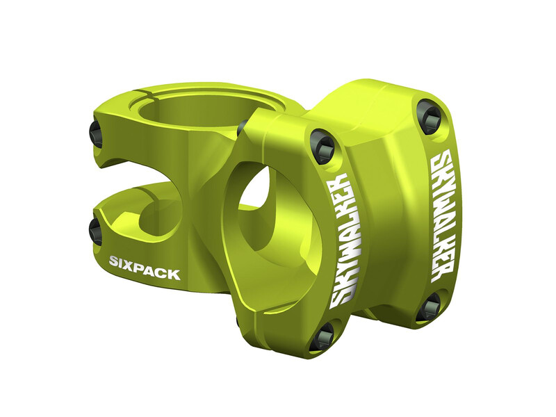Sixpack Skywalker Vorbau electric-green 75 mm 2015 Teile, Gr. 75 mm